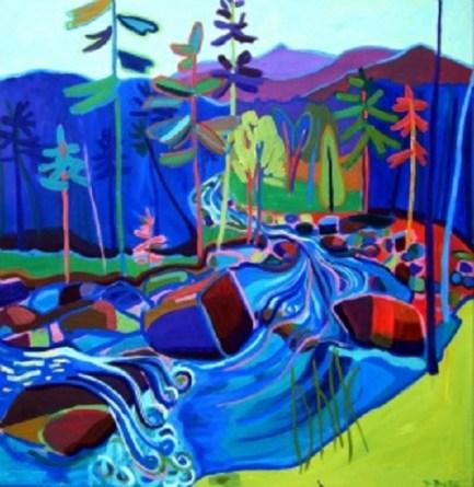 """""""Spring Thaw"""" / Acrylic on Canvas by Debra Bretton Robinson ©Copyright 2015, Debra Bretton Robinson"""