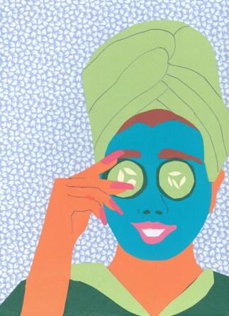 """""""Facial Mask"""" / Acrylic on Canvas ©Copyright 2015, Debra Bretton Robinson"""