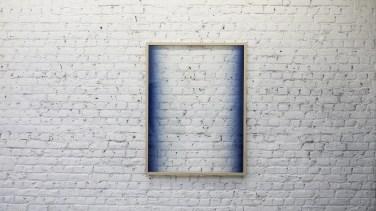 SEBASTIAN WICKEROTH Untitled. 2015, spray paint on glass, frame, 124 x 94 cm / Sans titre. 2015, peinture aérosol sur verre, cadre, 124 x 94 cm