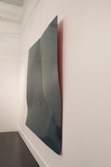 Front Kick, laque et aérosol sur dipond, pièce unique, 200x200cm, 2014