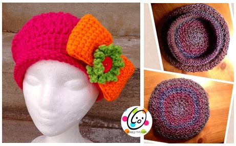 Bowdacious Beret pattern by Snappy Tots