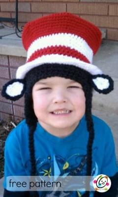 Free Pattern: Striped Top Hat