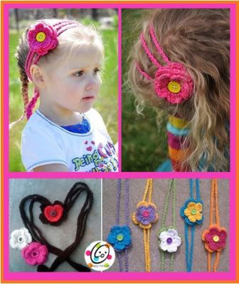 Free Pattern: Hearts and Flowers Headband