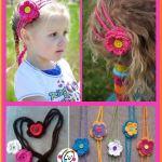 Free Pattern: Hearts and Flowers Headband