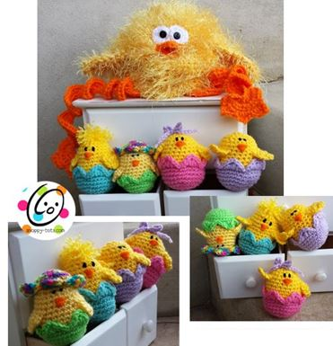 """""""Spring Chickie"""" pattern is on sale this weekend for only $2.49. (ends 4/20/14)"""