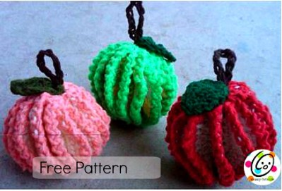 Free Pattern: Fruit Scrubbers