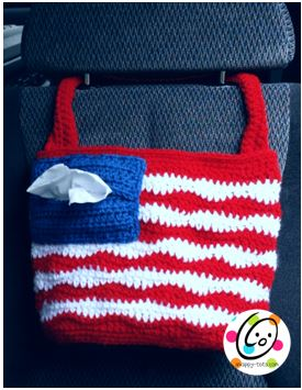Free Pattern: American Car Tote Bag