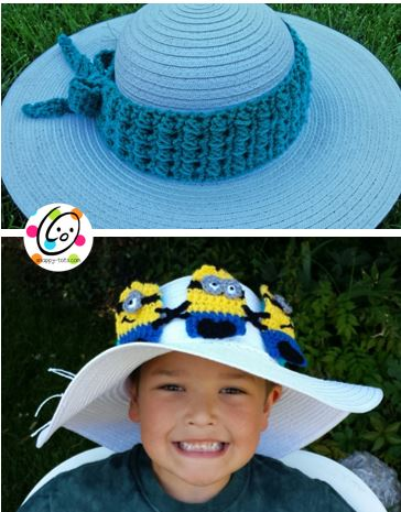 Free Pattern: Unique Hatband and Headband