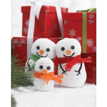 Snowman family from Mary Maxim.