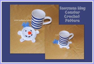 Snowman Mug Coaster from Posh Pooch Designs.