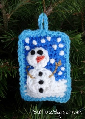 Snow Day Pillow Ornament from Fiber Flux.