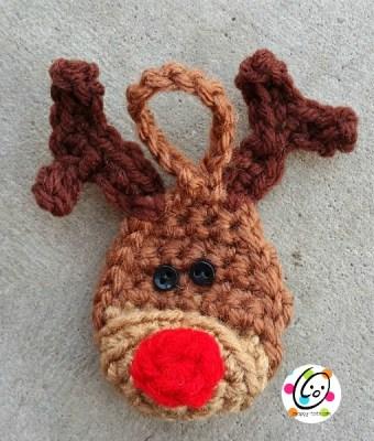 free reindeer ornament crochet pattern