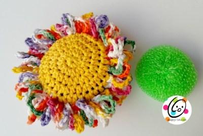 bloomin scrubbie free crochet pattern