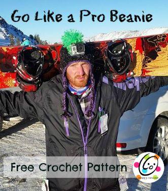 go like a pro beanie free crochet pattern
