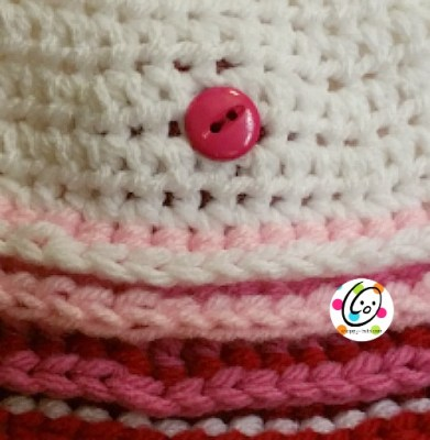 How to interchange appliques without sewing a button to the hat.