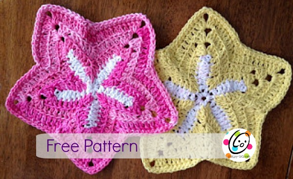 Featured Pattern: Starfish Dishcloths