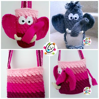 ellie the elephant bag and hat cochet pattern