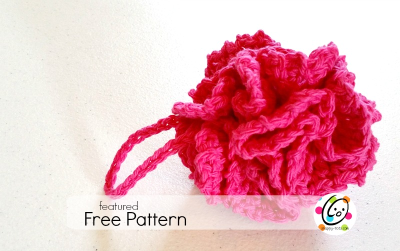 Featured Free Pattern Red Carnation Pot Scrubber Snappy Tots