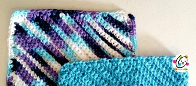Variegated with border; Turquoise without border