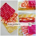 Free Pattern: Puffy Waffles Wash Cloth