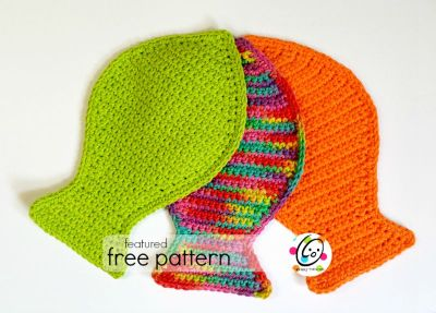 Featured Free Pattern: Fish Wash Cloth