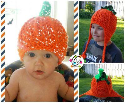 Free Pattern: Flashy Pumpkin Beanie