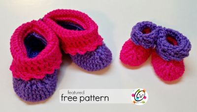 Featured Free Pattern: Baby to child slippers
