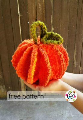 Free Pattern: Scrubbie and Jumbo Pumpkins