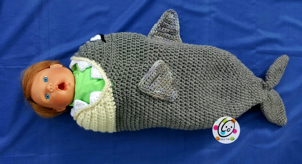 150bf78d204 Crochet  Baby Shark Pattern ~ Snappy Tots