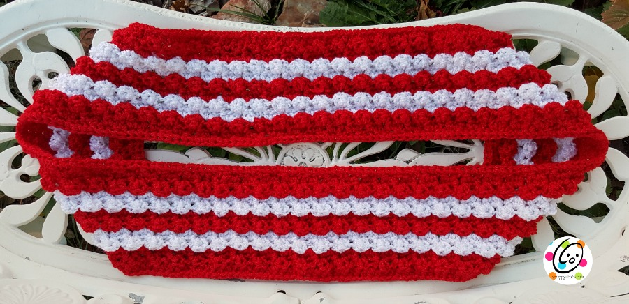 sparkling scarf crochet pattern