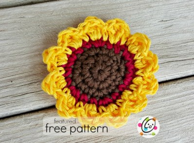 Featured Free Pattern: Sunflower Tawashi