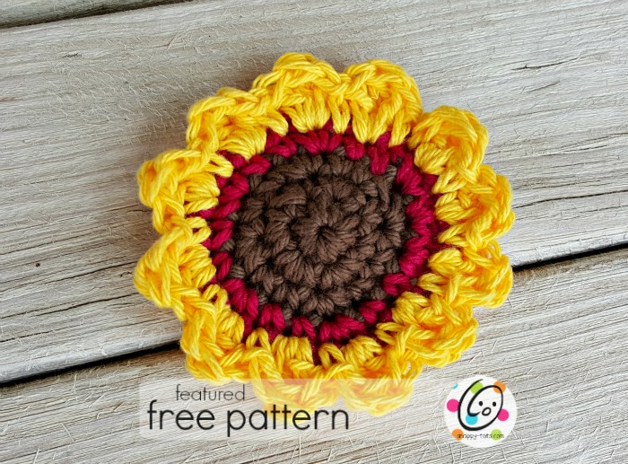sunflower free crochet scrubbie pattern