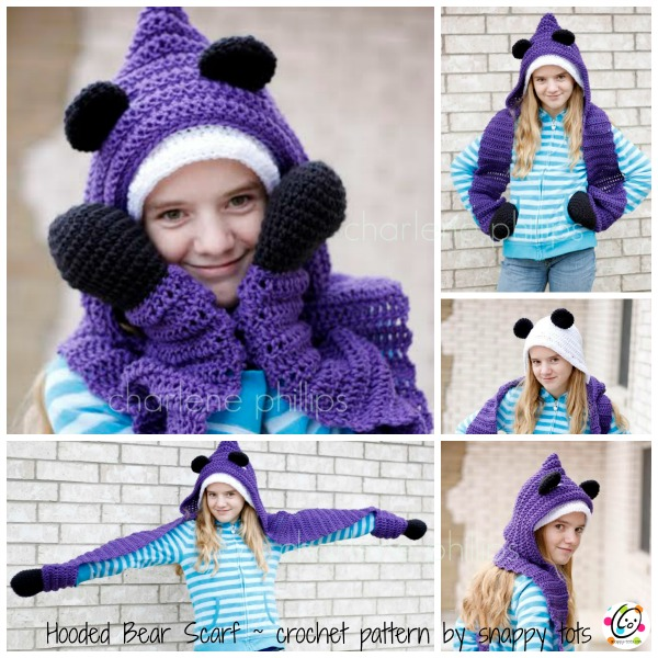 hooded bear pattern by snappy tots