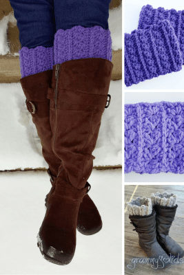 Boot cuffs and cowl crochet pattern