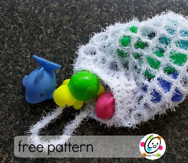 Free Pattern: Bath Scrubby Bag