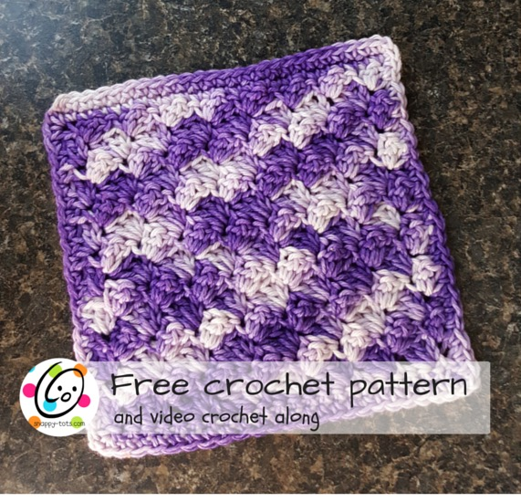 free washcloth crochet pattern and video