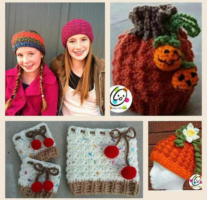 Crochet beanie, cowl, earwarmer and boot cuffs pattern pack.