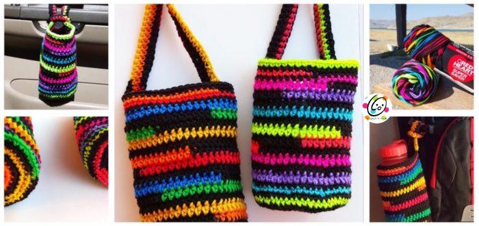 super stripes baggies ~ free crochet pattern
