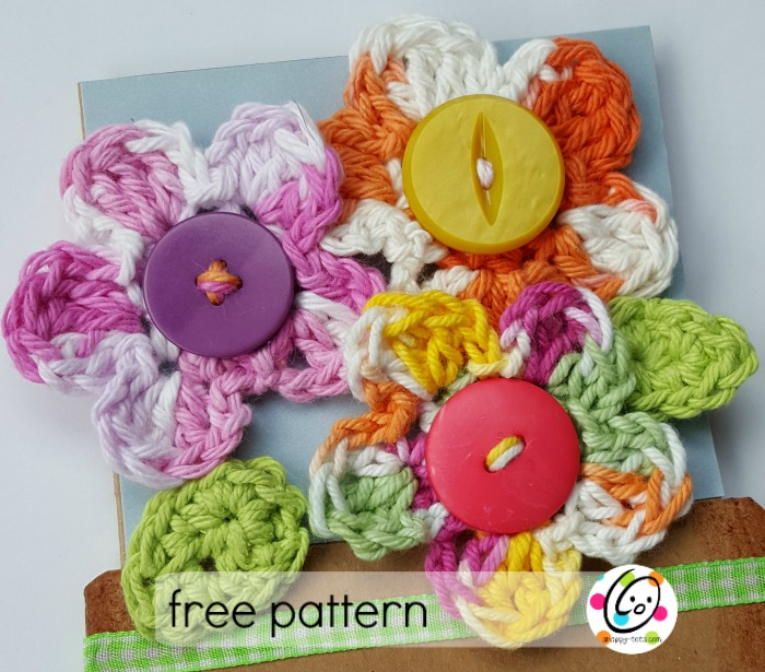 Free Pattern Small Crocheted Flowers Snappy Tots