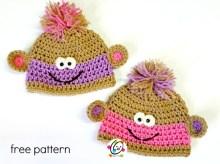 free baby monkey beanies