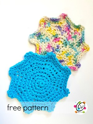 Free Pattern: Splat Scrubbies