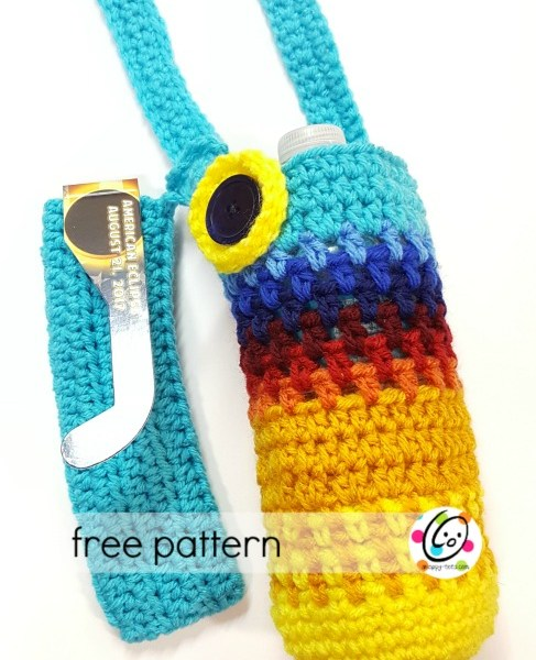 Free Pattern: Eclipse Water Bottle Holder