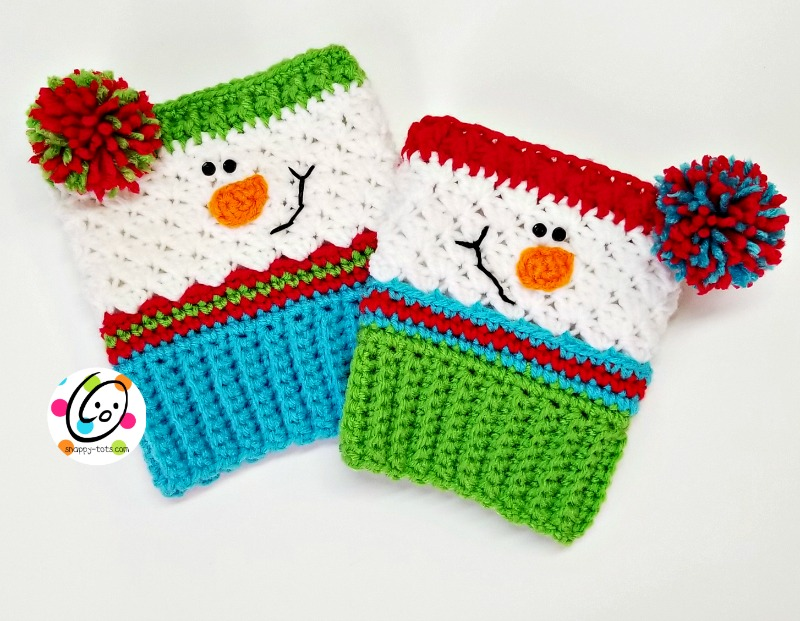 Free Pattern Sampler Snowman Boot Cuffs Snappy Tots