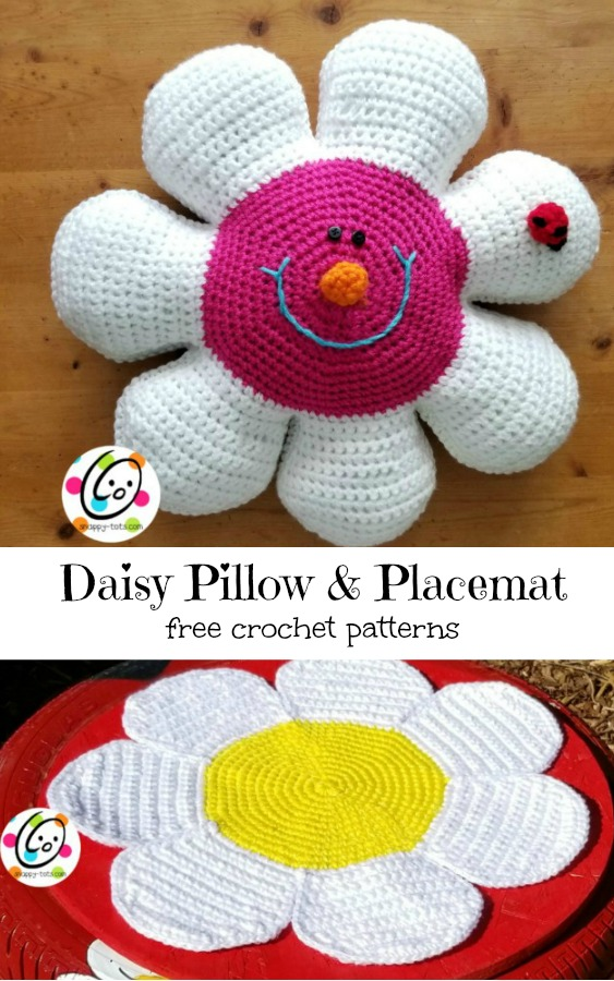 Free Pattern Daisy Pillow And Placemat Snappy Tots