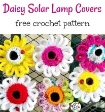 Free Pattern: Daisy Solar Lamp Cover