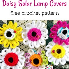 Free Pattern: Daisy Solar Lamp Cover