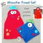Free Pattern: Monster Hanging Towel
