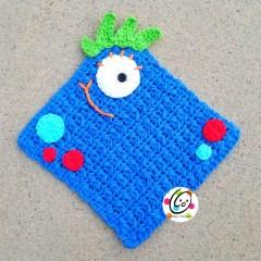 Free Pattern: Monster Washcloth