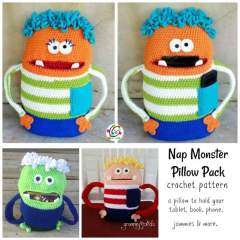 New Pattern: Nap Monster Pillow