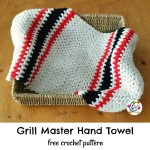 Free Pattern: Grill Master Hand Towel